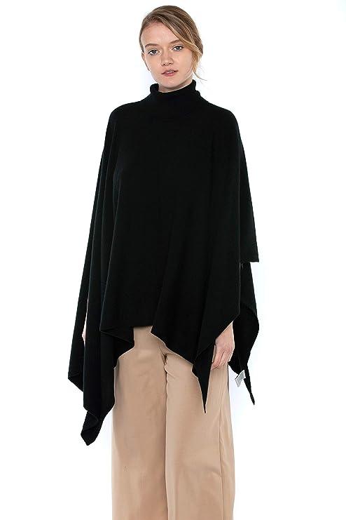 Amazon.com: J CASHMERE - Poncho para mujer, 100% cachemira ...