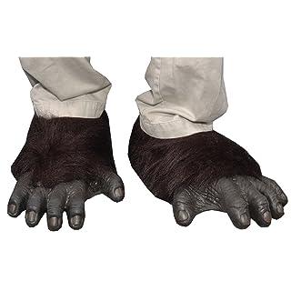 Zagone Gorilla Feet,  Black Faux Fur, Black Latex Toes/Feet