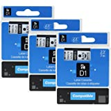 3 Pack D1 45013 / S0720530 Replacement Labelling Tape Cartridges Black on White 12mm x 7m Compatible for Dymo LabelManager 160 (S0946320) 210D (S0784440) 360D (S0879490) 420P (S0915490) 500TS (S0946420) Wireless PnP, LabelWriter 450 DUO