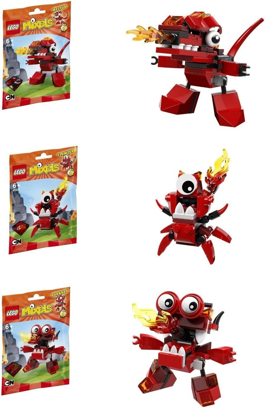 LEGO, Mixels, Series 4 Bundle Set of Infernites, Meltus (41530), Flamzer (41531) and Burnard (41532)
