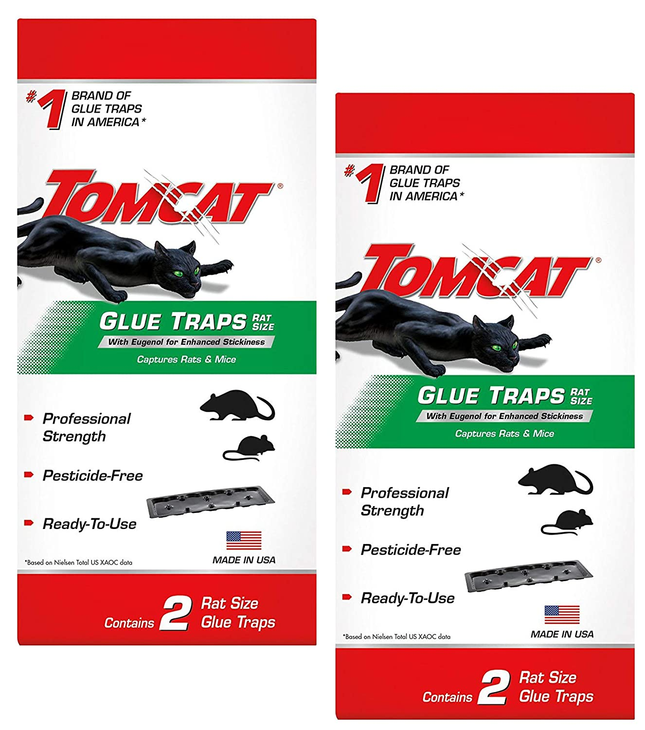 Tomcat Rat Glue Trap W/Eugenol (2 Pack)