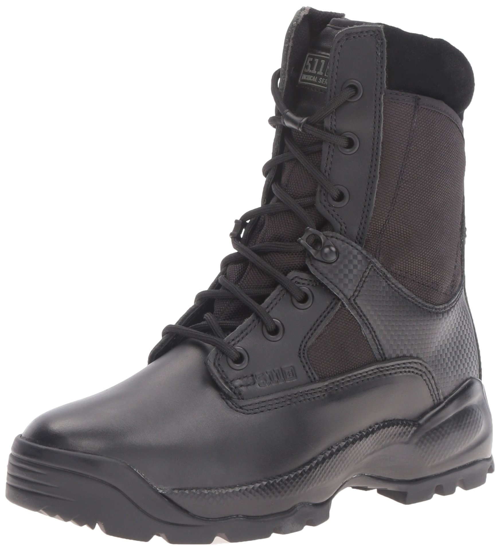 5.11 Women's A.T.A.C. 8'' Side Zip Tactical Boots, Style 12007, Black, 6.5 R