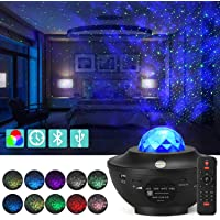 Star Night Light for Kids | Moon Lamp | Bedroom Lights | Skylight | Star Projector | Baby Night Light | 360°Rotating Sleep Soothing Color Changing Lamp for Stage Bedroom Wedding Christmas(Black)