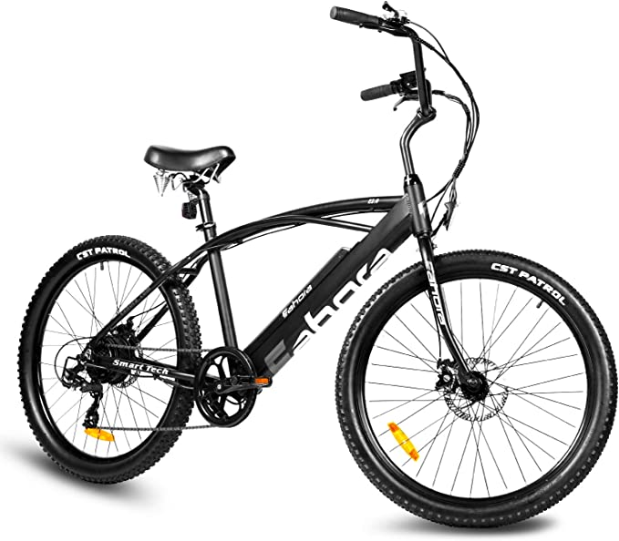 """Eahora E2.0 350W Aluminum Electric Bike Adult Electric Mountain/Beach Bike, 26"""" Electric Bicycle 21Mph with Removable 10.4Ah Lithium-Ion Battery, 21 Speed Gears E-Bike E-PAS System Ebike"""