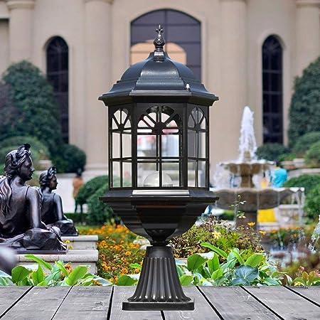 XAJGW Lámpara de Pilar Entrada Pared Patio Calle Calle Exterior jardín Negro Villa balcón césped lámpara Impermeable, líneas Suaves y delicadas, Aspecto Hermoso (23 * 54.5cm): Amazon.es: Hogar