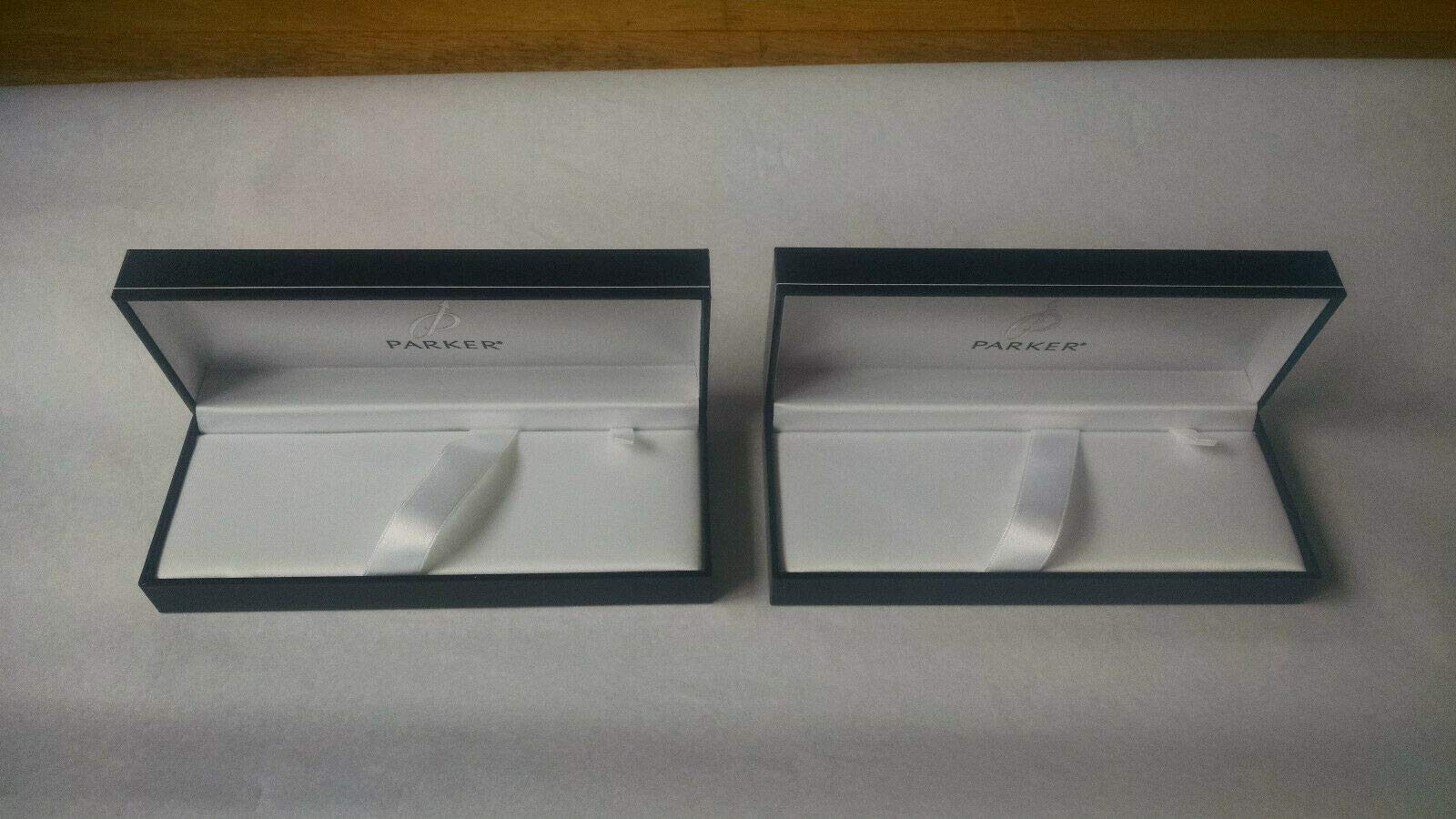 Set of 2 Parker Luxury Black Pen Boxes Empty Gift Box & Guarantee
