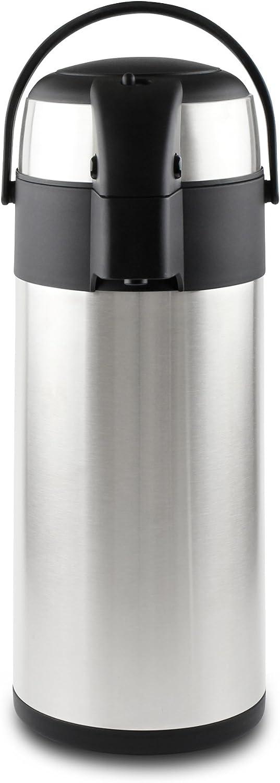 Pioneer - Termo de Acero Inoxidable con dispensador de té y café, Acero Inoxidable, Satin Finish, 3 L