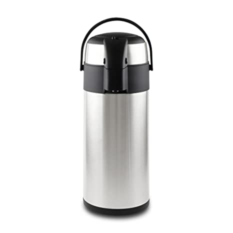 Pioneer - Termo de Acero Inoxidable con dispensador de té y café, Acero Inoxidable, Satin Finish, 2.2 litres
