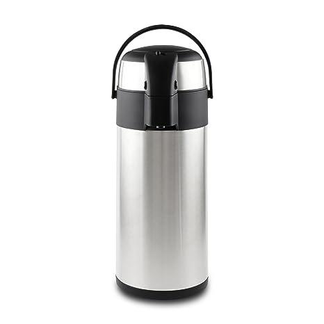 Pioneer - Termo de Acero Inoxidable con dispensador de té y café, Acero Inoxidable, Satin Finish, 2.2 litres