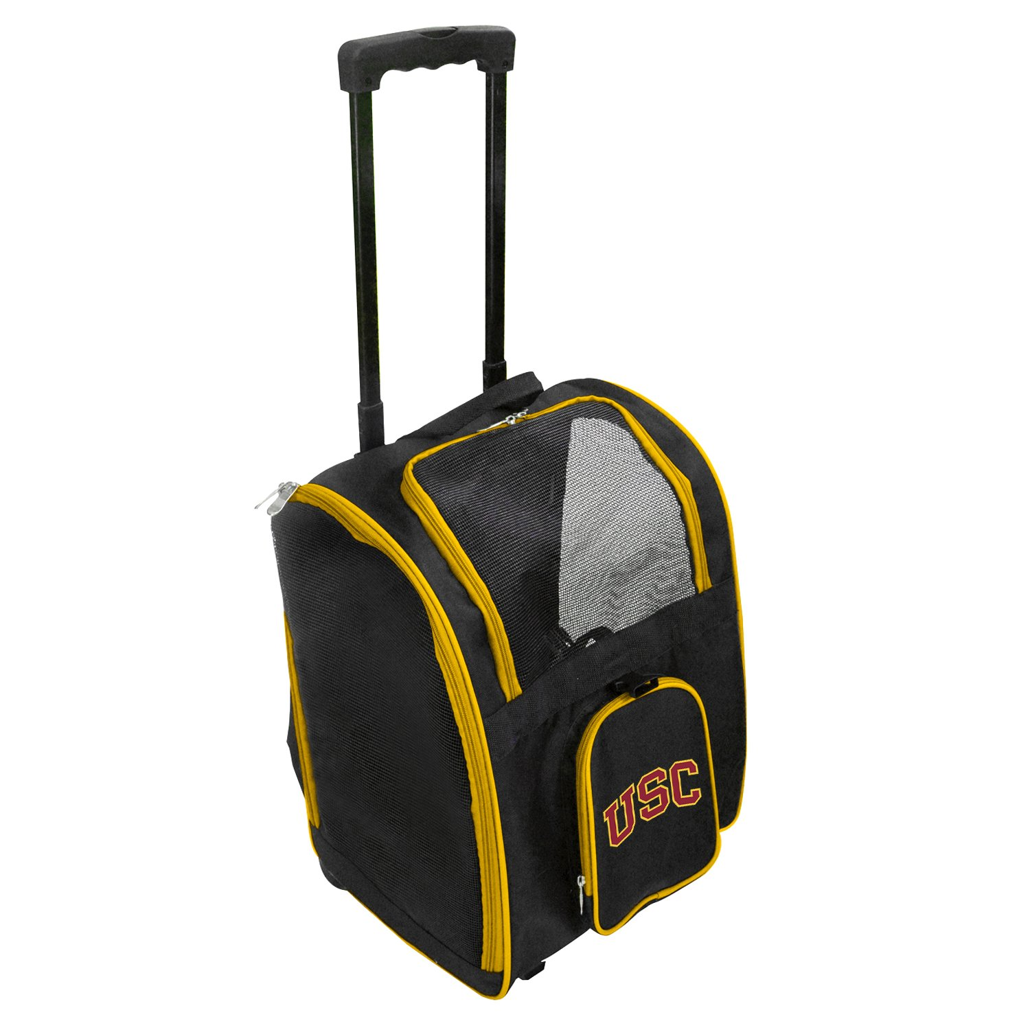 Denco NCAA Premium Wheeled Pet Carrier