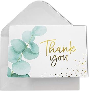 Amazon.com: Tarjetas de agradecimiento con sobres, 48 hojas ...