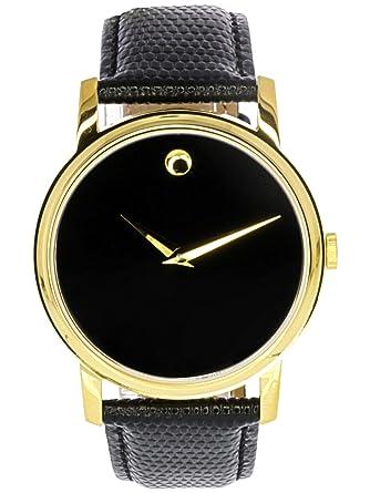 e404c15f1 Amazon.com: Movado Men's 2100005 Museum Gold Classic Leather Watch: Movado:  Watches