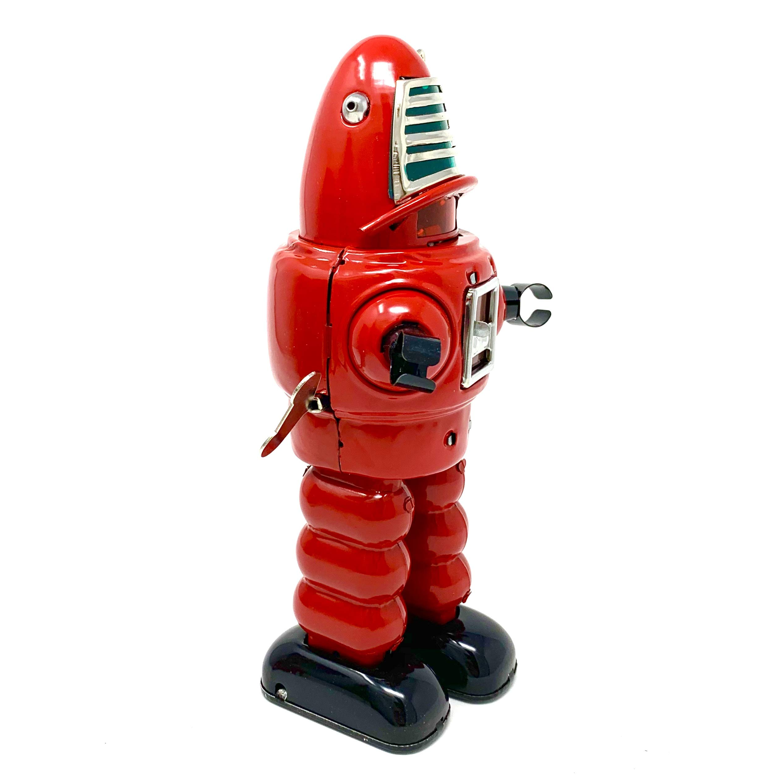 Off the Wall Toys Vintage Style Collectible Wind Up Red Planet Robot Wind Up 8.5'' MS430 by Off the Wall Toys (Image #3)