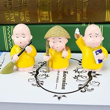Drei Kleine Mönch Nette Karikatur Dekoration Kreatives  Harz Fertigkeit Wohnzimmer Schlafzimmer