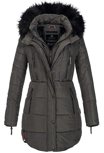 best website b9f48 82ab4 Marikoo warme Damen Winter Jacke Winterjacke Parka Stepp Mantel lang B401