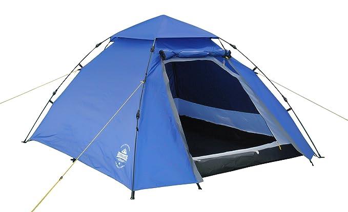 Lumaland Outdoor Pop Up Kuppelzelt Wurfzelt 3 Personen Zelt Sekundenzelt Camping Festival etc. 215 x 195 x 120 cm Tragetasche