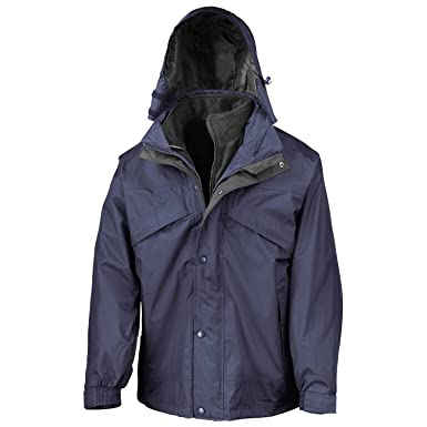 Result 3 in 1 Removable Fleece Waterproof Windproof Mens Rain ...
