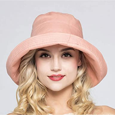 Buy Cheap Female Solid Color Sun Hat Lady Summer Beach Wide Brim Fisherman Hat Women Fashion Cotton And Linen Plain Bucket Hat Cap Apparel Accessories