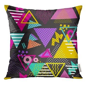 Amazon.com: VANMI - Funda de almohada con diseño geométrico ...