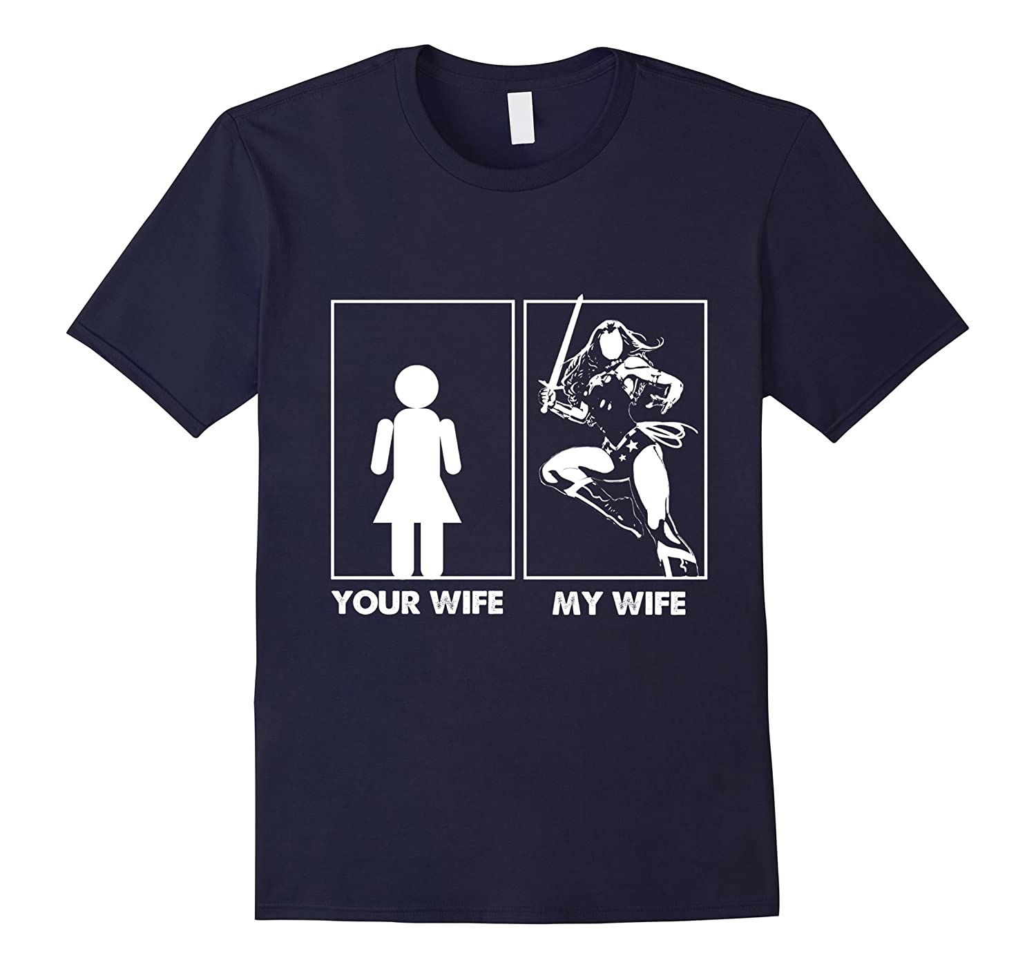 Mens My wife is the best wife shirt for men-4LVS