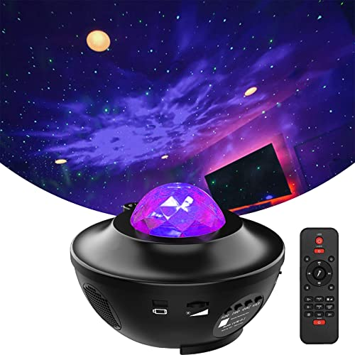 Star Projector Ocean Wave Night Light Projector with Bluetooth Speaker,Sky Night Light with Remote Control Star Light Projector for Bedroom Game Rooms Home Theatre Night Light Ambiance