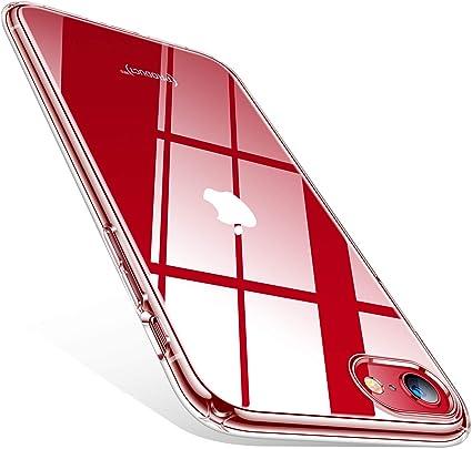 TORRAS Coque transparente pour iPhone 8 / iPhone 7 / iPhone SE (2020), fine en silicone souple [anti-jaune] Coque de protection transparente pour ...