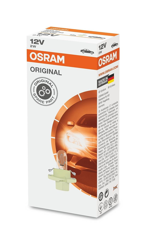 10er Faltschachtel 2W Osram ORIGINAL Sockel BX8.4d 12V 2352MFX6