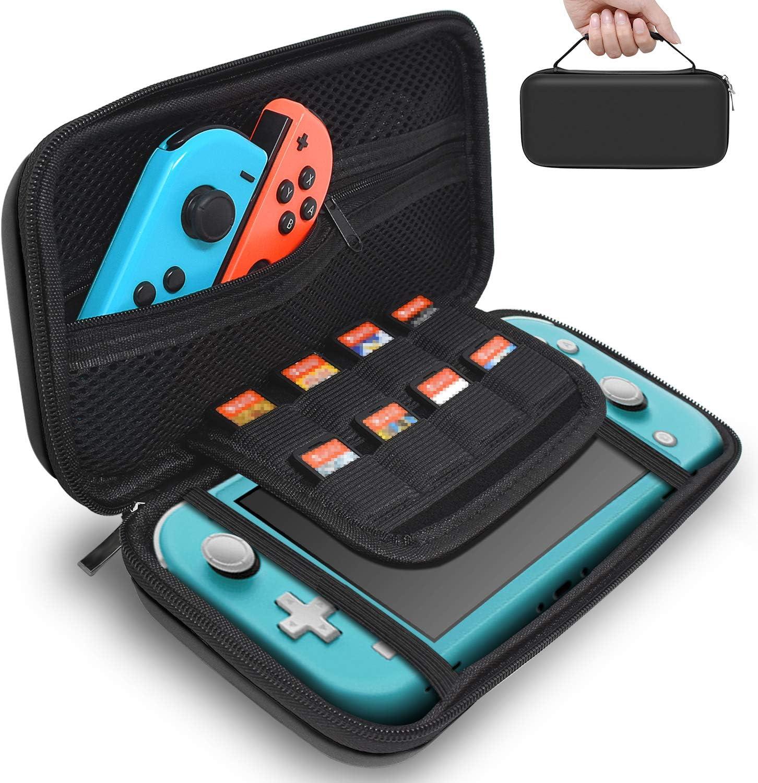 FYOUNG - Funda rígida para Nintendo Switch Lite 2019, con 8 Cartuchos de Juegos, para Consola Switch Lite, Joy-Cons, Tarjetas de Juegos y Otros Accesorios: Amazon.es: Electrónica