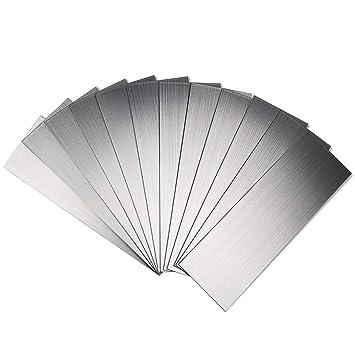 Amazon.com: Art3d - Láminas de metal para cocina (acero ...