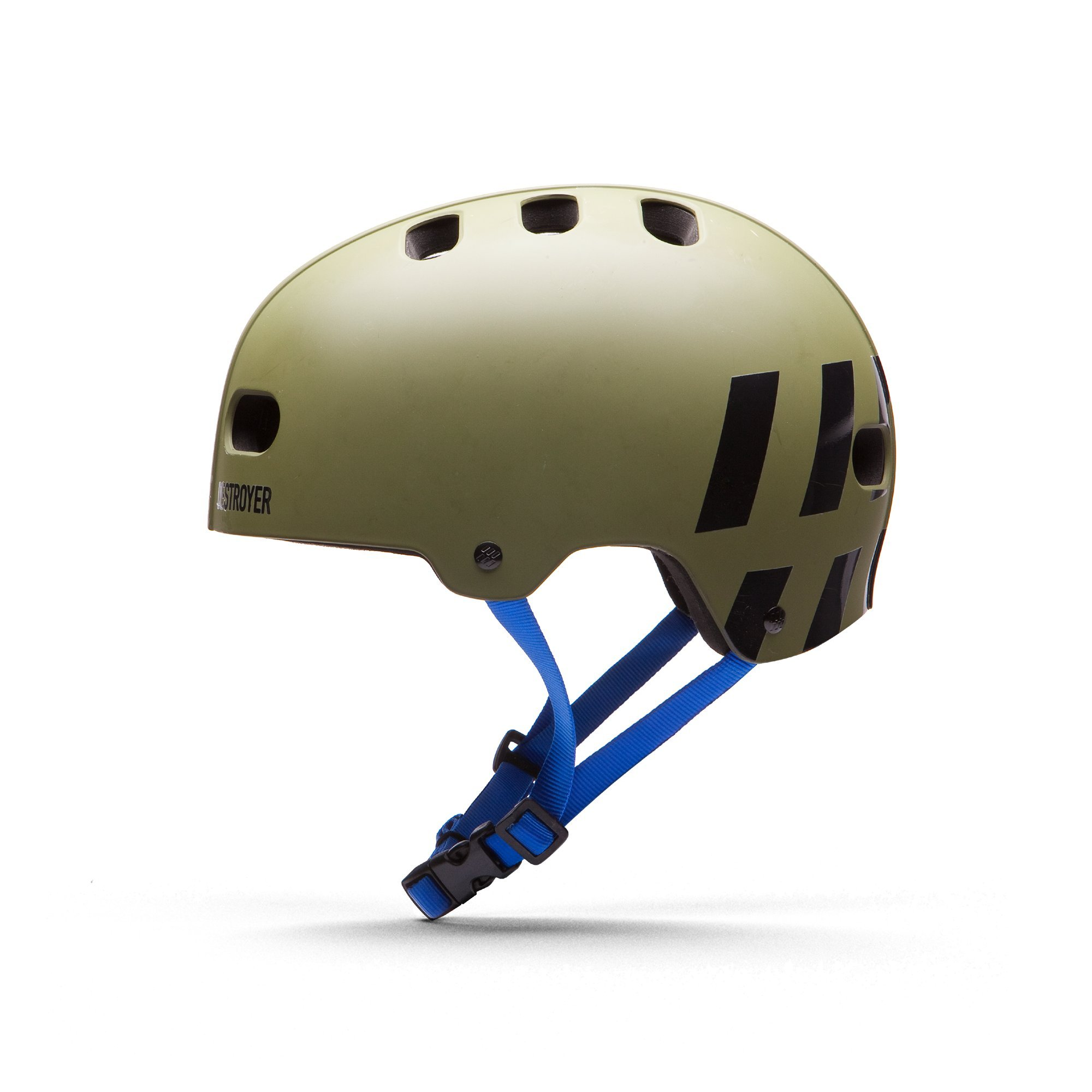 Destroyer EPS Skateboard Helmet (Olive/Royal, Small/Medium)