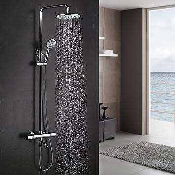 kinse® Wellness – Sistema de ducha con termostato para baño y ...