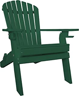 product image for Poly Recycled Plastic Adirondack Chair with Two Cupholder-Green