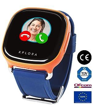 XPLORA Smartwatch para niños, SIM no incluida (NARANJA): Amazon.es ...