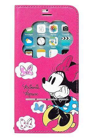 3a5319f8d0 iPhone8 iPhone7 ケース 手帳型 ディズニー 窓付き キャラクター カード収納/ミニーマウス
