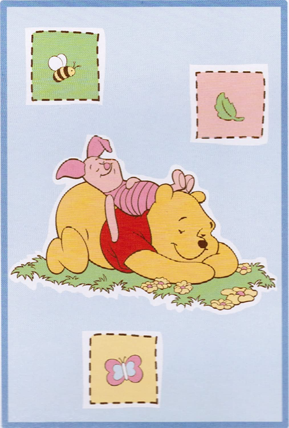 Disney Baby Winnie the Pooh Bedtime Stories Luxury Plush Throw Blanket (30 in. x 45 in.) Crown Craft Infant Products Inc.
