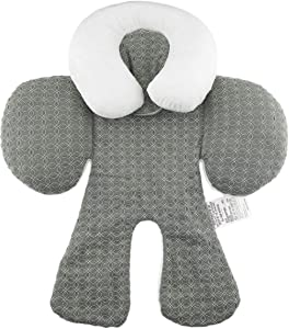 Pandamama Comfortable Dual Sided Use Baby Stroller Seat Cushion, Breathable Cotton Infant Pushchair Seat Cushion