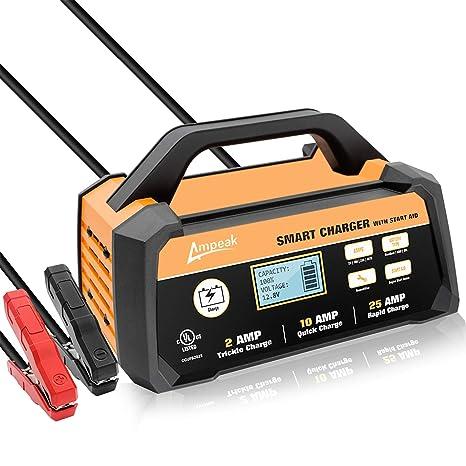 Amazon.com: Ampeak Smart cargador de batería/mantenedor ...