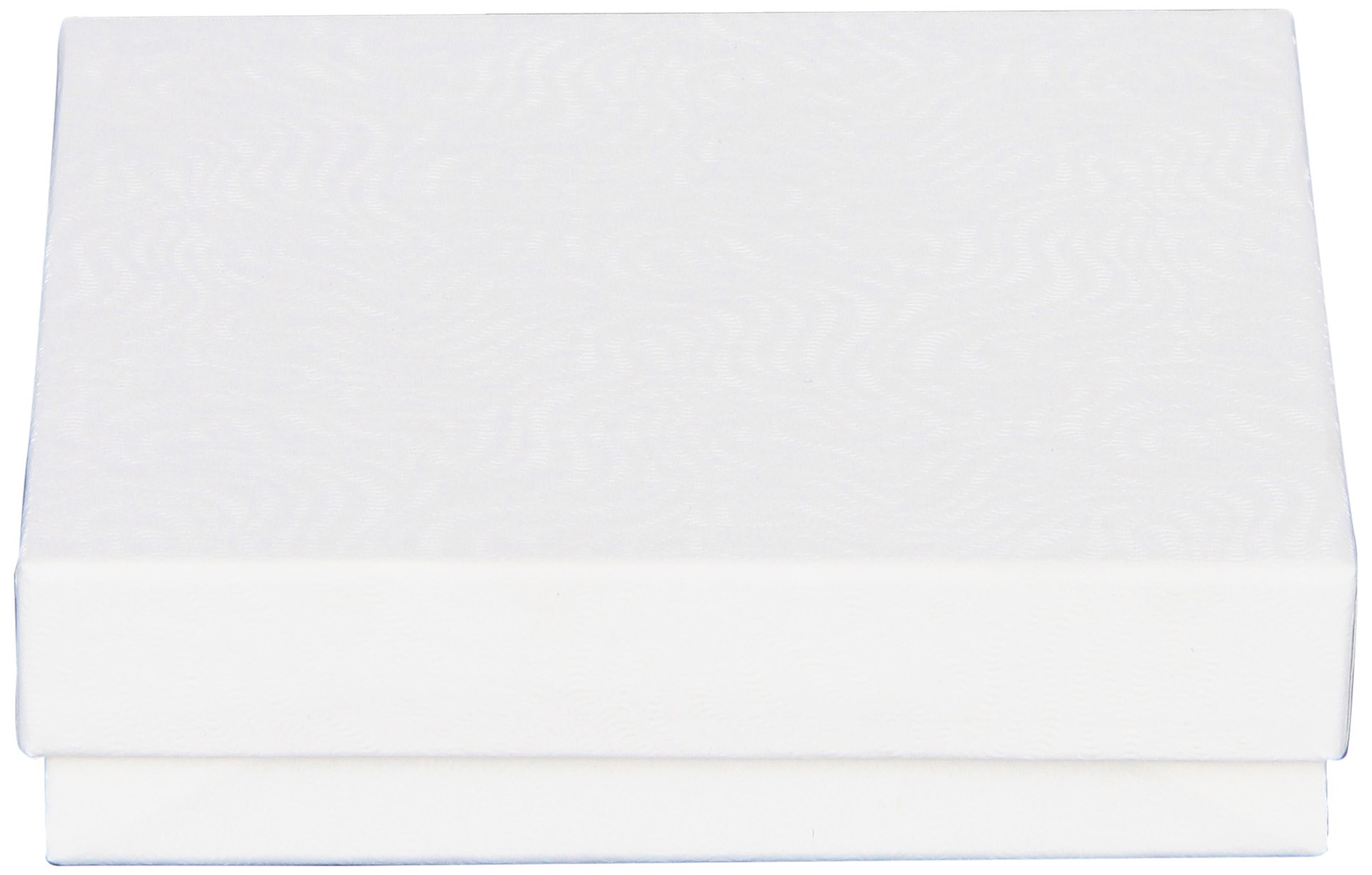 The Packaging Trust Jewelry Boxes, , 3-1/2'' L x 3-1/2'' W x 7/8'' H, White Swirl, 100 Boxes