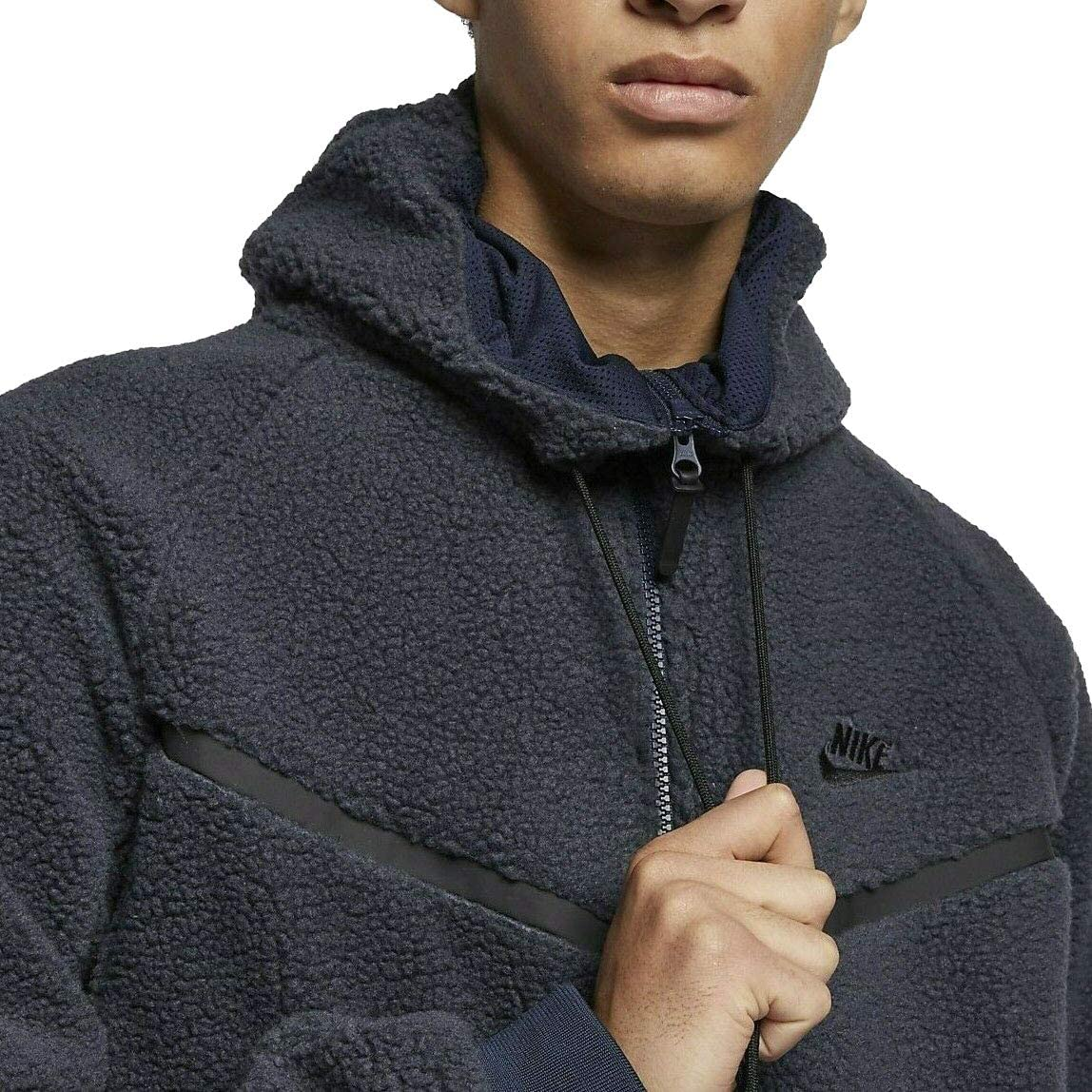 Falsificación arpón En respuesta a la  Amazon.com: Nike Men's Tech Icon Sherpa Fleece Windrunner Jacket Navy Black  Aq2767-451 (M): Clothing