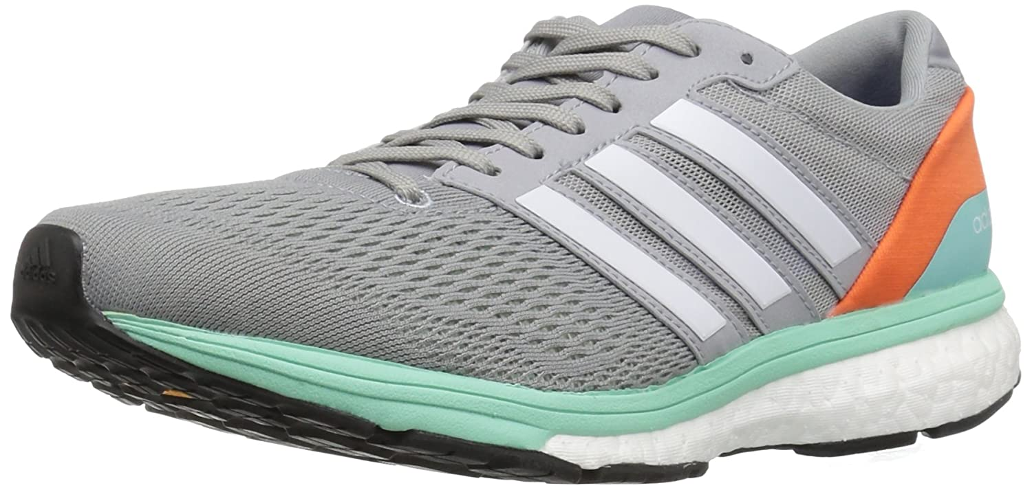 adidas Women's Adizero Boston 6 W Running Shoe B01N07QQXC 11.5 B(M) US|Mid Grey White/Easy Orange S