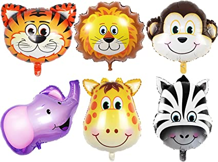 Animal Cartoon Foil Balloons Kids Decor Safari Jungle Birthday Party Baby Shower