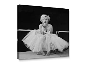 Niwo Art-Marilyn Monroe C, Classic Movie Stars Canvas Wall Art Home Decor,Stretched Ready to Hang