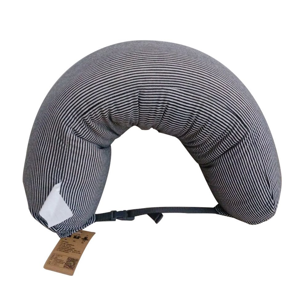 Anself Oreiller U en Forme de Particules en Mousse Voyage Neck Pillow Soins de Santé Têtière Home Office Flight Car Nap Side Sleeper H17566DGY-EAFI5V