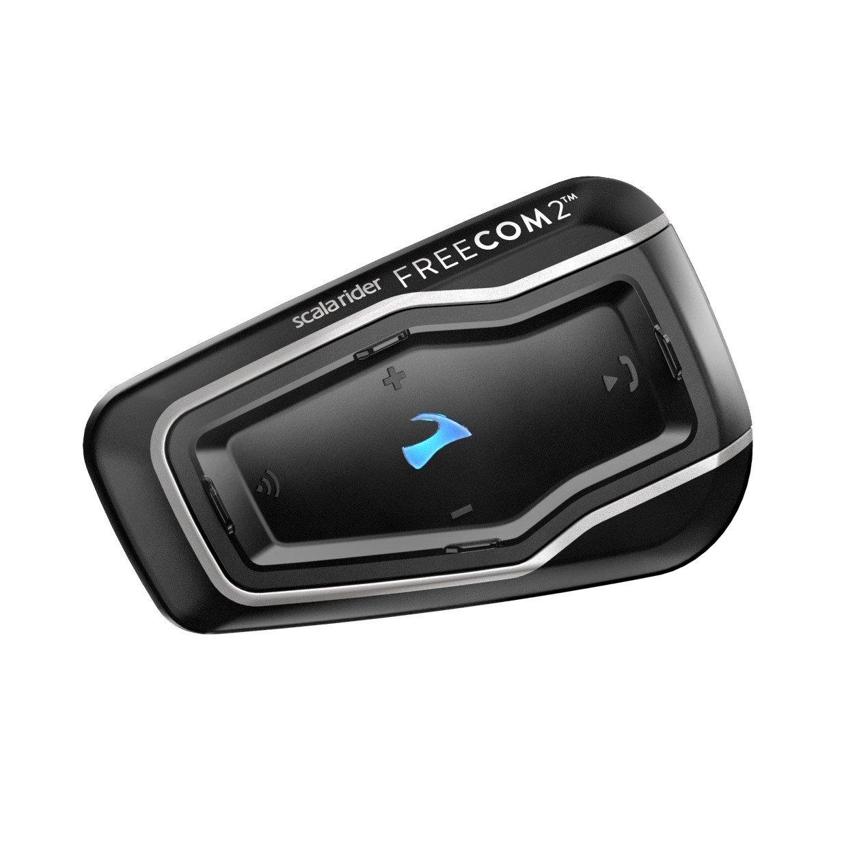Cardo FRC20002 Cardo scala rider FREECOM 2 - Rider to Passenger Bluetooth 4.1 Motorcycle Communication System with HD Audio (Single Pack)