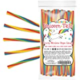 Unicorn Tails Licorice Candy Ropes - Sour Rope Candy Rainbow Party Favors for Kids - Bulk Candy Goodie Bags (24 Ct…