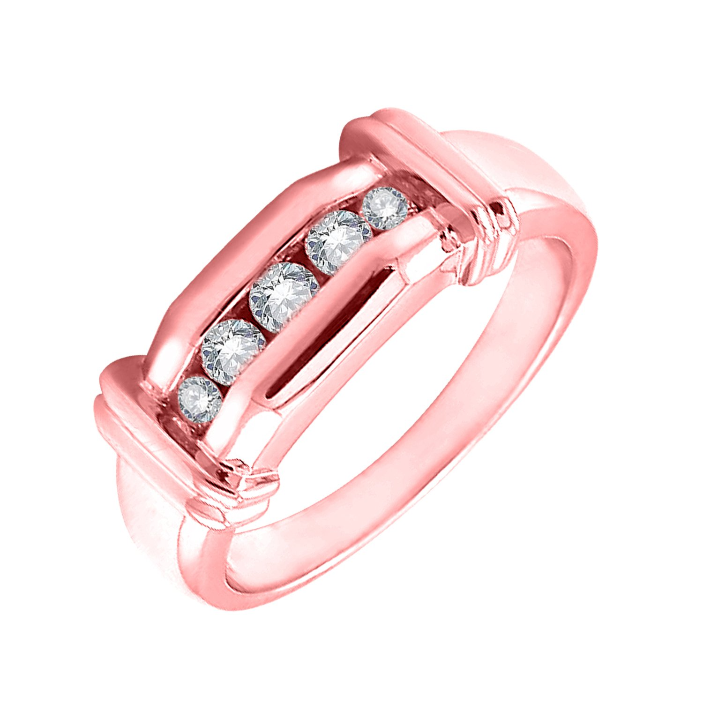 Amazon.com: IGI Certified Channel Set Diamond Wedding Band in 18K ...