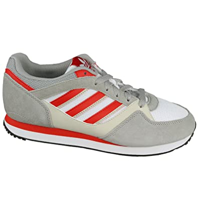 620b8bfde987 adidas ZX 100 Shoes- Running White Red Bliss (8)