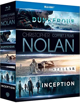 Christopher Nolan - Coffret 3 films : Inception + Interstellar + Dunkerque [Blu-ray + Digital HD]