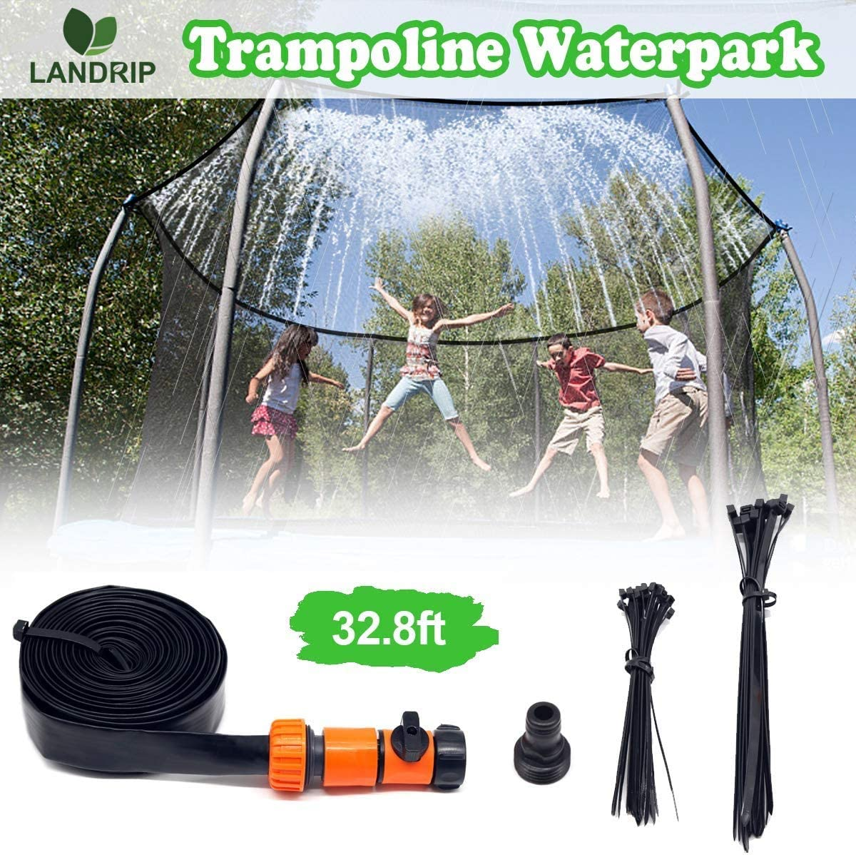 Bluexury Trampoline Sprinklers Hose for Kids,Boys Girls Fun Summer Outdoor Water Park Game Sprinkler Accessories
