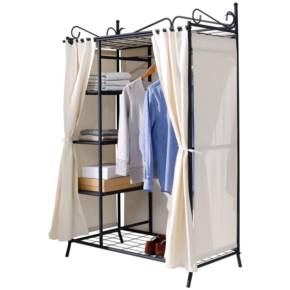 Metall Kleiderschrank Garderobe Breezy – mit Kleiderstange und ...